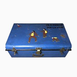 Mid-Century Tintin Koffer aus Eisen, 1960er