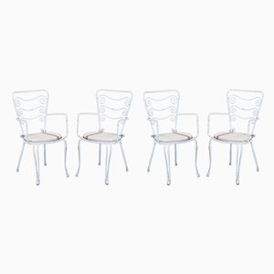 Mid-Century Italian Iron Garden Chairs, 1960s, Set of 4