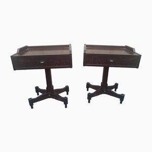 Rosewood Nightstands by Claudio Salocchi for Sormani, 1950s, Set of 2