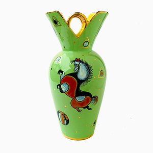 Italian Ceramic Vase by S. Volpi for Deruta, 1950s