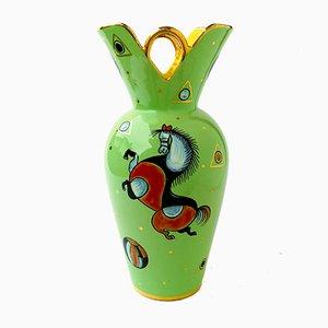 Italienische Keramikvase von S. Volpi für Deruta, 1950er