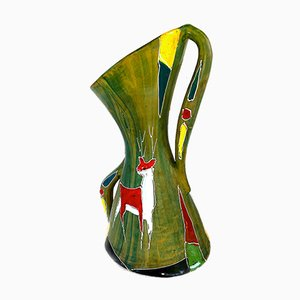 Italienische Mid-Century Keramikvase, 1950er
