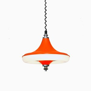 Lámpara colgante belga era espacial de Massive, años 70