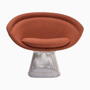 Sessel mit Gestell aus Nickel & Stahl von Warren Platner für Knoll International, 2000er