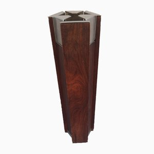 Teak and Nickel-Plated Brass Ashtray by Ico Parisi for Stildomus, 1960s