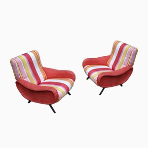 Wooden Lady Armchairs by Marco Zanuso for Arflex, 1950s, Set of 2