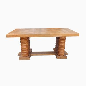 Vintage French Oak Dining Table, 1940s