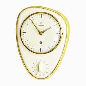 German Ceramic Kitchen Clock with Egg Timer from Junghans, 1950s
