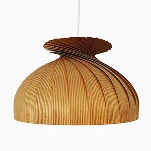 Lampada da soffitto in legno di Hans-Agne Jakobsson per AB Markaryd, anni '60