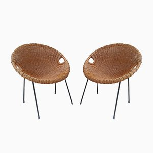 Mid-Century Rattan Chairs, 1960s, Set of 2