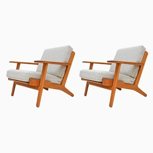 Danish GE-290 Lounge Chairs by Hans J. Wegner for Getama, 1950s, Set of 2