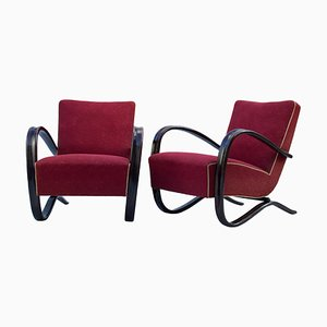 H269 Lounge Chairs by Jindřich Halabala for UP Závody, 1930s, Set of 2
