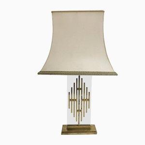 Lampe de Bureau Mid-Century en Bronze et Tissu, 1960s