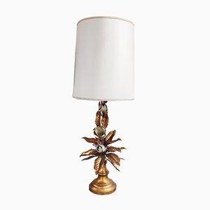 Lámpara de mesa italiana Mid-Century de metal, años 60