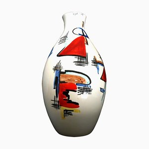 Mid-Century Italian Ceramic Vase by Artistica Aretini