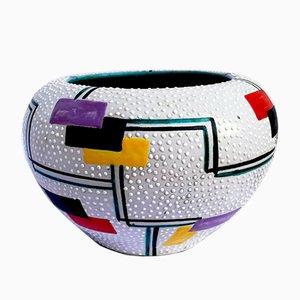 Italienische Keramikvase von Ars Deruta, 1954