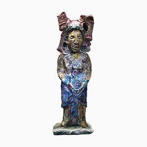Italian Ceramic Sculpture by Anselmo Mario Albisola, 1957