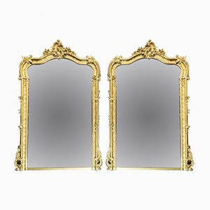Espejos franceses antiguos. Juego de 2
