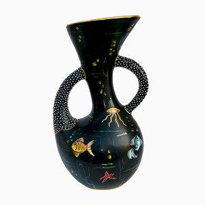 Italienische Keramikvase von Osvaldo O. Dolci, 1950er