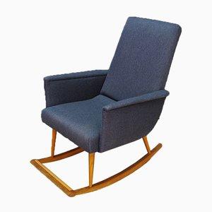 Mid-Century Danish Fabric and Teak Rocking Chair, 1960s