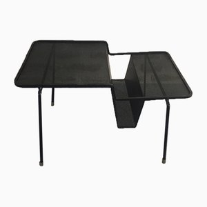 Tavolino in bronzo e rete metallica di Mathieu Matégot per Atelier Matégot, Francia, anni '50