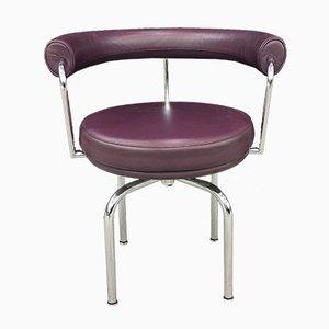 Italienischer Sessel mit verchromtem Gestell & Ledersitz von Pierre Jeanneret für Cassina, 1970er