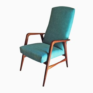 Danish Fabric and Teak Armchair by Alf Svensson, 1960s