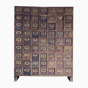 Mid-Century Industrial Haberdashery Chest of Drawers, 1940s