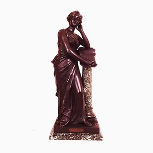 Escultura Poesie antigua de mármol de Henri Louis Levasseur
