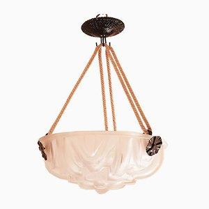 Lámpara de techo francesa Art Déco de Muller Frères, años 20