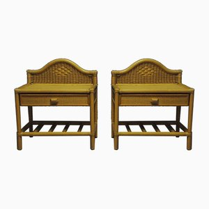 Vintage Bamboo Side Tables, 1970s, Set of 2