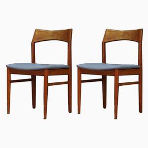 Chaises de Salle à Manger Scandinaves par Henning Kjærnulf pour Vejle Mobelfabrik, 1960s, Set de 2