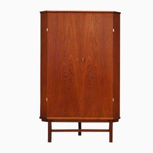 Mueble esquinero danés Mid-Century de teca, años 60