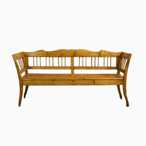 Antique Rustic German Wooden Bench
