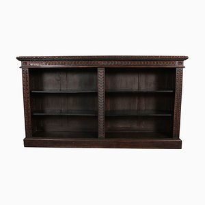 Large Antique Carved Oak Bookcase