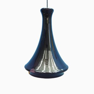 Danish Glass Ceiling Lamp from Holmegaard, 1960s