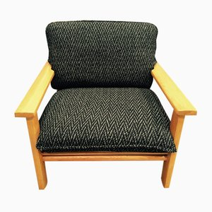 Scandinavian Modern Oak Lounge Chair, 1960s