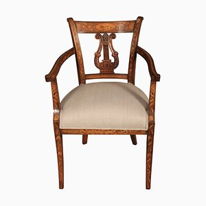 Antique Dutch Marquetry Armchair