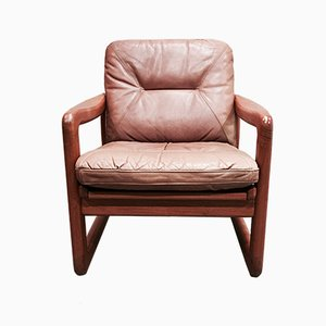 Scandinavian Modern Teak and Leather Lounge Chair from Holstebro Mobelfabrik, 1960s