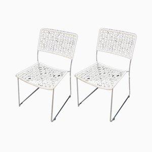 Dänische Mid-Century Esszimmerstühle aus Metall, 1960er, 2er Set