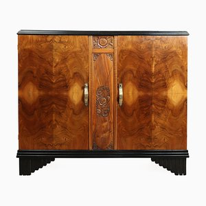 Vintage Art Deco French Oak and Walnut Sideboard, 1930s