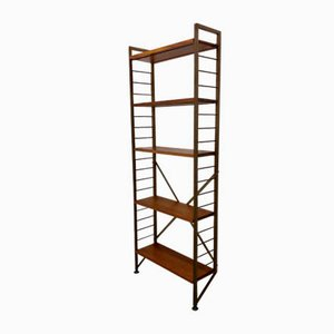 Vintage Teak and Metal Ladderax Book Shelving Unit by Robert Heal for Staples, 1970s