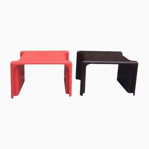 Tavolini Mid-Century in ABS di Giotto Stoppino per Elco, Italia, 1969, set di 2