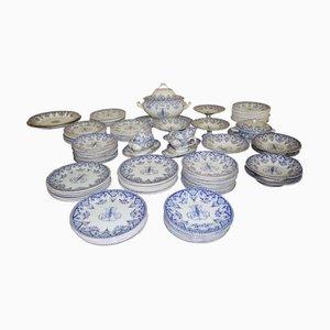 Set da tavola Mid-Century blu di Gien, Francia, anni '50, set di 146