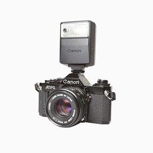 Schwarzes AV-1 Kameraset von Canon, 1982