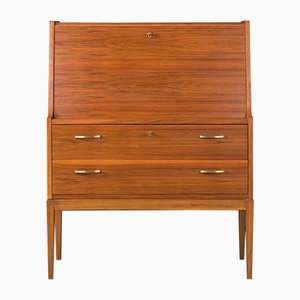 Mid-Century German Walnut Secretaire, 1960s