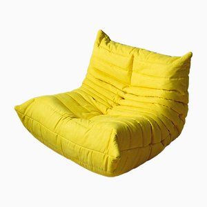Togo Yellow Microfiber Lounge Chair by Michel Ducaroy for Ligne Roset, 1970s