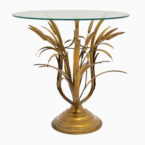 Mid-Century Italian Gold Plated Sheaf Side Table