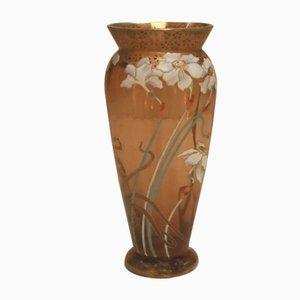 Antike französische Glasvase im Jugendstil