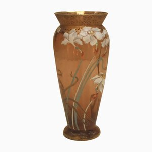 Vase Art Nouveau Antique en Verre, France